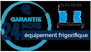 Garantie 24 mois de l'équipement frigorifique
